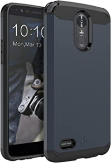 LK Case for LG Stylo 3, LK Case for LG Stylo 3 Plus, [Gladiator Series] Shock Absorption Hybrid Armor Defender Protective Case Cover for LG Stylo 3 / LG Stylo 3 Plus (Navy Blue)
