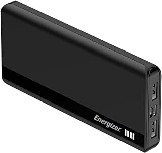 Energizer UE10054 10000mAh Fast Charging Dual Input -micro USB, Type-C Powerbank with Power Delivery 18W - Black