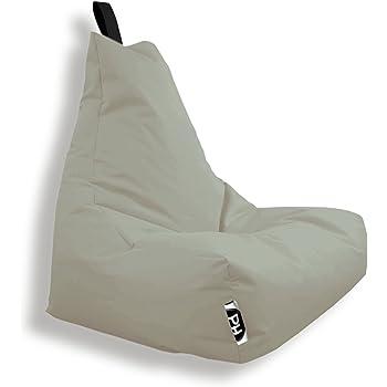 Patchhome Lounge Sessel XXL Gamer Sessel Sitzsack Sessel Sitzkissen In & Outdoor geeignet fertig befüllt | XXL Beige in 2 Größen und 25 Farben