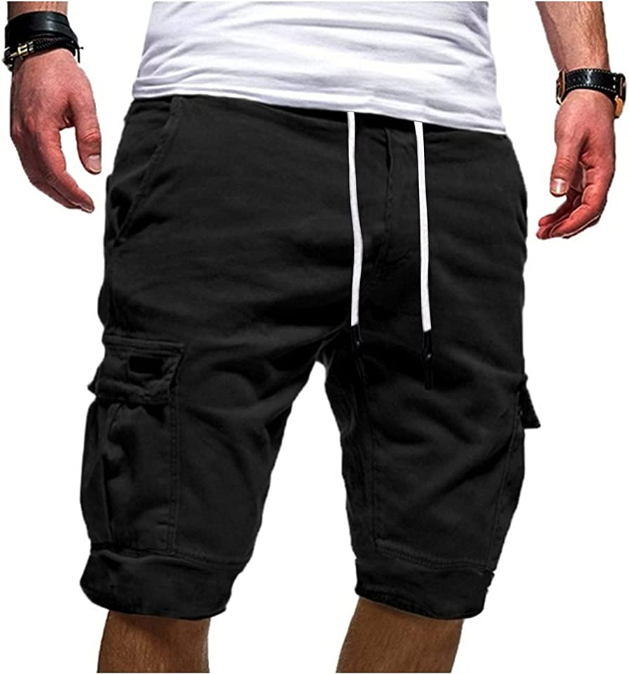 DSPKOhG Herren Vintage Cargo Shorts Kurze Hose Baumwolle Shorts Sommer Herren Shorts Sporthose für Freizeit Sport Jogging Ripstop Shorts,Sweatshorts Kurze Hose Jogginghose