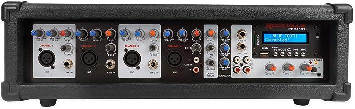 Rockville RPM45BT 2400w Powered 4 Channel Mixer/Amplifier w Bluetooth/EQ/Effects