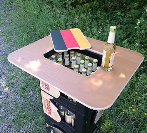 Original BestLoft® Tischaufsatz für Bierkasten – Stehtisch Partytisch Bistrotisch Tischaufsatz 70x58cm (Aufsatz+Servierbrett) - 8