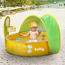 Pop Up Baby Beach Tent and Pool Tent UV Protection Sun Shelters,Portable Kids Ball Pit Play Tent Indoor Outdoor Baby Paddling Pool Beach Canopy Tent Garden