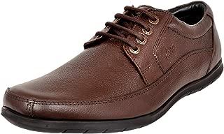 Allen Cooper ACFS-8036 Men's Genuine Leather Comfortable Formal Shoes (8, Brown)