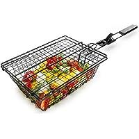 Sagaform BBQ Non-Stick Vegetable Basket with Bamboo Handle