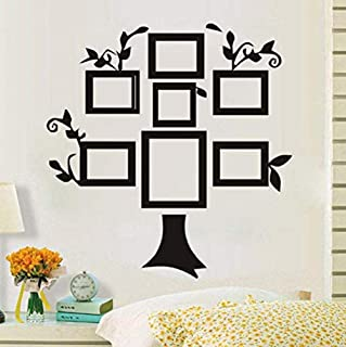 gykjf Wall Stickers Tree Photo Frame Vinyl Wall Stickers Simple Home Decoration DIY Creative Wall Stickers Detachable Self-Adhesive Decorative Living Room 59 61Cm