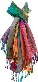Meranu Damen SchalMarokko Regenbogen-Farben Pashmina - Viskose/Polyester - xxl 180 x 60 cm bunt/mehrfärbig
