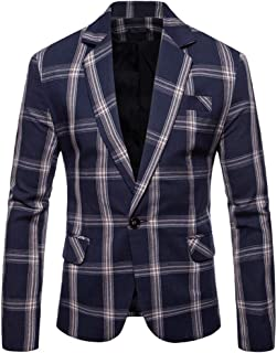 ASOBIMONO Mens Vintage Colorful Lightweight Slim Two-Buttons Casual Suit Blazers Jacket Coat