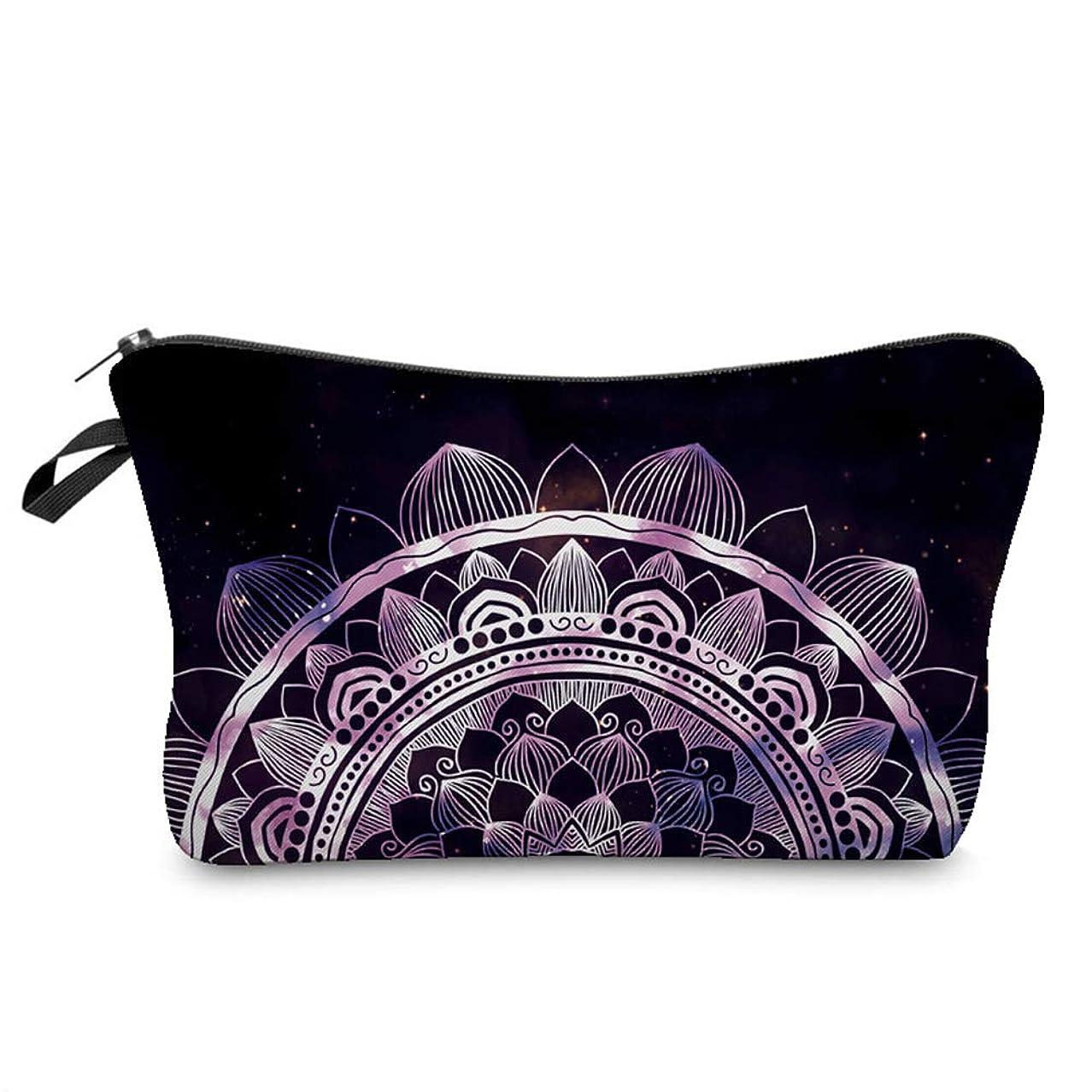 寛容中世の護衛1st market 優れた3D曼荼羅印刷化粧品オーガナイザーバッグ女性旅行化粧ポーチ