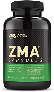 Optimum Nutrition ZMA, Zinc for Immune Support, Muscle Recovery and Endurance Supplement for Men and Women, Zinc and Magne...