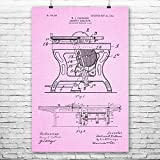 Patent Earth Table Saw Poster Print, Workshop Wall Art, Carpenter Gift, Garage Decor, Handyman Gift, Shop Class Wall Art (5 inch x 7 inch)