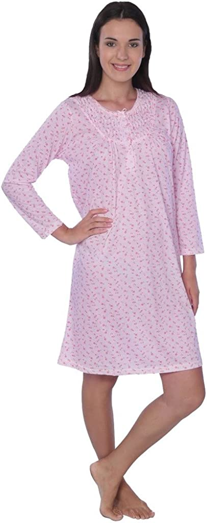 Women's Floral Long Sleeve Nightgown Available in Plus Size