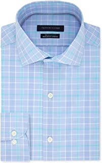 Mens Plaid Regular Fit Button-Down Shirt