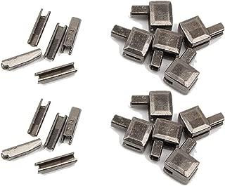 Trycooling 20Pcs Metal Zipper Latch Slider Retainer Insertion Pin Easy for Zipper Repair Zipper Repair Kit (#5) (Dark Gray)