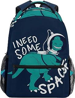 Astronauta Dinosaurio Mochila Escolar para niños niñas niños Bolsa de Viaje Bookbag