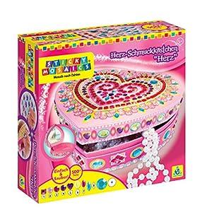 """1 """"Heart Box"""" mit Spiegel 500+ funkelnde Juwelen Für Kinder ab 5 Jahren"""
