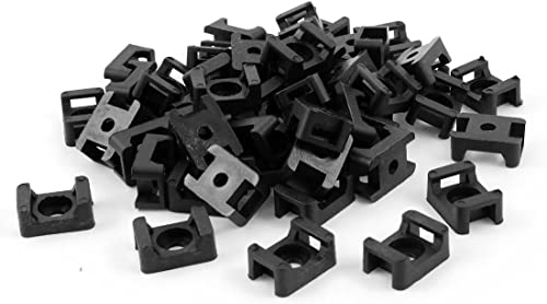 high quality Mallofusa 9mm Cable Tie Base Mount 2021 Saddle Type Wire Holder, sale Black, 100 Pcs sale