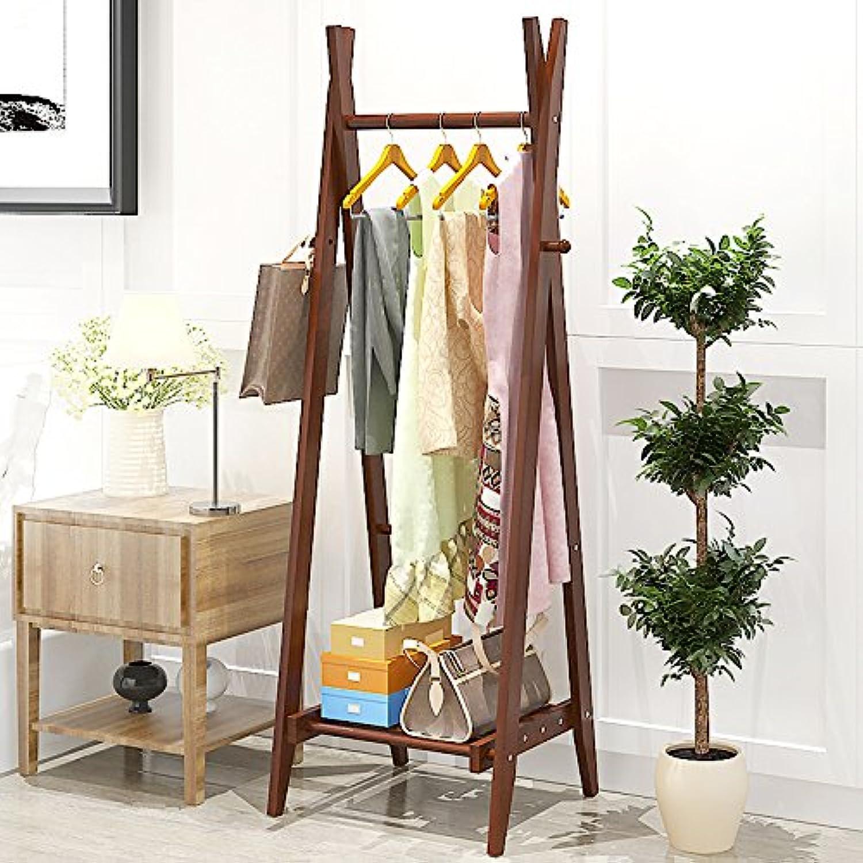 Coat Rack Floor to Ceiling Hangers Fashion Simple Makeshift Wooden shoes Racks Bedroom Home Creative Clothes Coat Rack