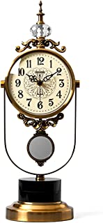 Table Clock على مدار الساعة المعدنية الجسم الصامت الصامت ساعة مكتب تظهر الأزياء، ساعة النوم الإبداعية ساعة (أأ امدادات الط...