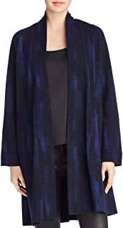 Eileen Fisher Womens Jacquard Open Front Jacket