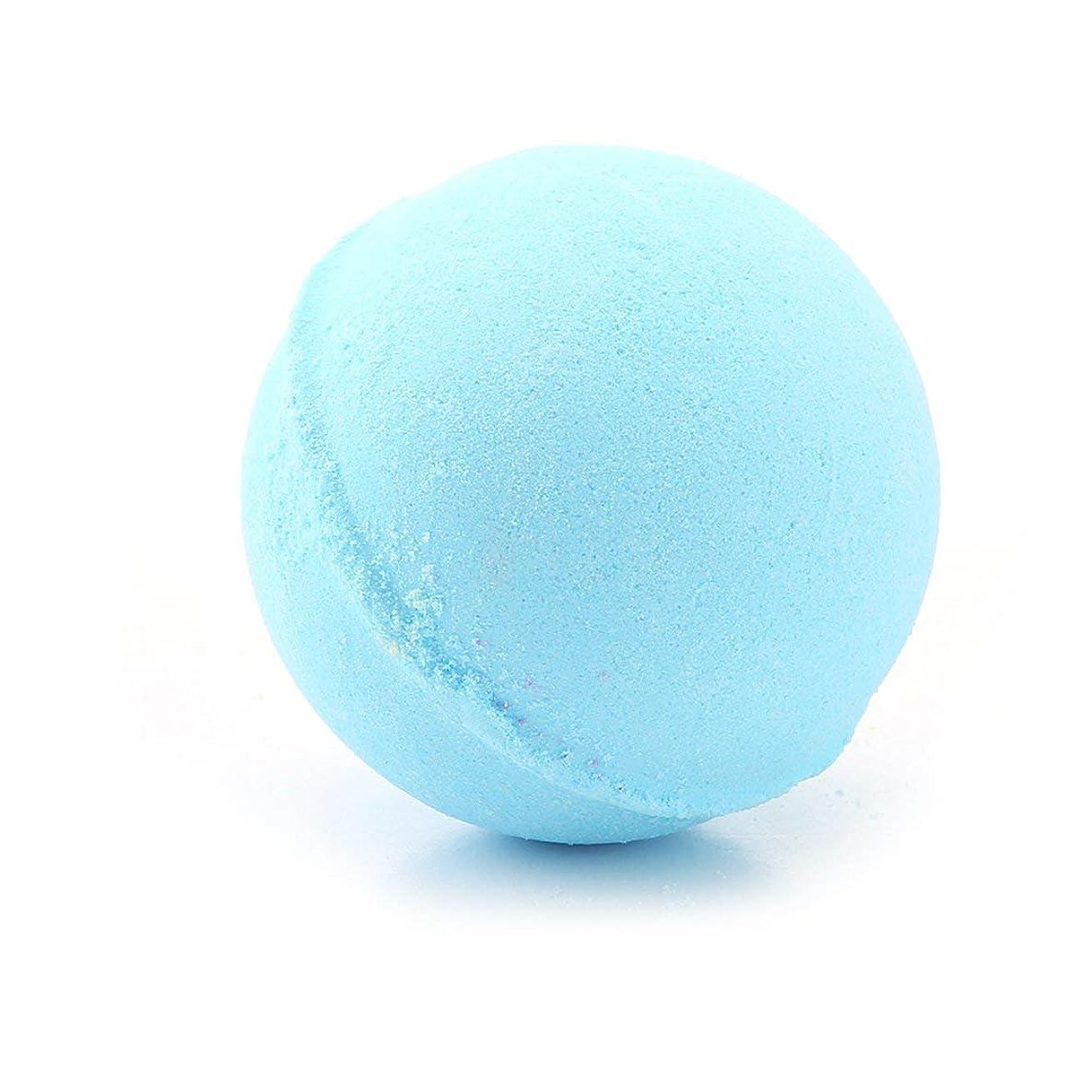 スキム女優年金60グラム多色風呂ボールナチュラルバブルフィザー風呂爆弾ホームホテルのバスルームボディスパ誕生日プレゼント用彼女の妻のガールフレンド - ブルー