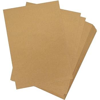 Neuser 50 Fogli di Carta Kraft I dellAnnata A4 120 g m Natura Marrone riciclati Foglio Lettera Biologico 100/% Ambientale di Gustav