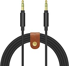 Geekria QuikFit Cable Replacement for Skullcandy Hesh, Hesh 2.0, Crusher, Grind, Aviator Bluedio T4 and More/Tangle-Free Premium Headphone Replacement Audio Cord (3.5mm Male to Male, Black 5.6ft)