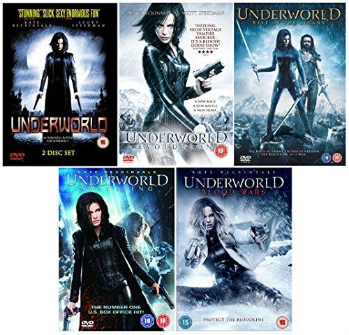 Underworld 1-5 Complete Collection - Underworld + Underworld: Evolution + Underworld: Rise of the Lycans + Underworld: Awakening + Underworld: Blood Wars