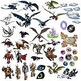 Cómo entrenar a tu dragón 3D Cartoon pegatinas de pared para dormitorios niños y niñas etiqueta mural Tamaño: Grande