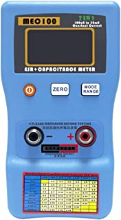 Signstek Digital Auto-ranging ESR and Capacitance Meter Tester with SMD Test Clips and USB Cable