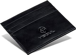 Portafoglio VISOUL piccolo, portafoglio in pelle, utilizzabile come porta carte di credito e porta documenti, con blocco R...