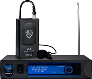 Nady DKW-3 LT VHF Wireless Lavalier / Headset Microphone System – includes microphone, wireless bodypack, receiver, AC adapter and audio cable – Easy setup – Karaoke, performance, presentation, public address