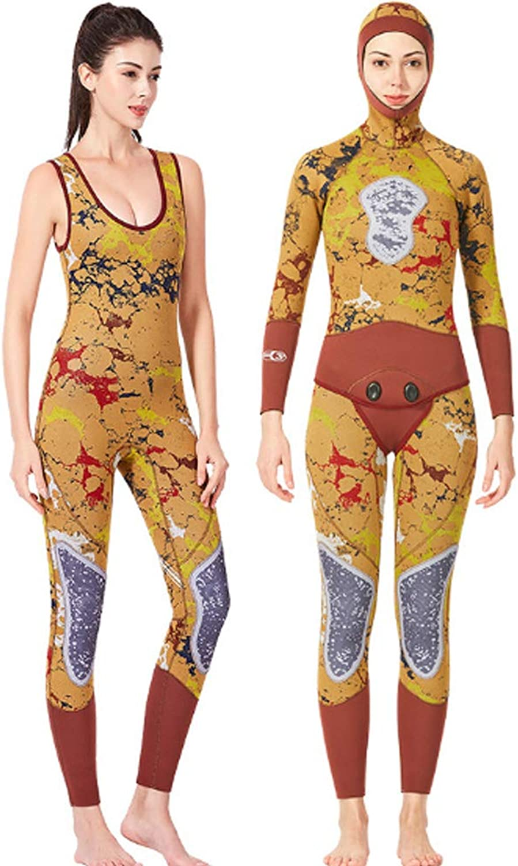 HBRT Women Wetsuit,3mm Neoprene Jumpsuit,Full Body Suits for Scuba Diving Surfing Snorkeling Swimming kayaking canoeing,L