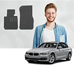 Road Comforts Custom Fit BMW 2-Series (2014-2019), 3-Series (2012-2018), M3 (2015-2018) Floor Mats - Digitally Laser Measured & Premium TPE Heavy Duty Thick Material - Front Row Only (2pcs) (Black)