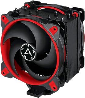 ARCTIC Freezer 34 eSports DUO版 - プッシュプル構成のタワー型CPUクーラー、200から2100 RPMの広範囲の制御、2つの低ノイズPWM 120 mmファンを含む - 赤