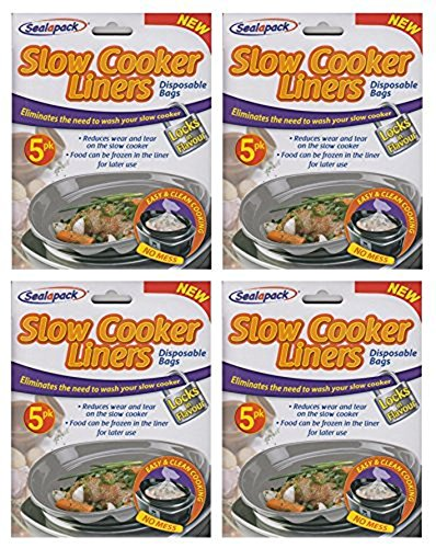 20 Sealapack Slow Cooker Liners Cooking Bags 4 x For Round & Oval Cookers by Sealapack
