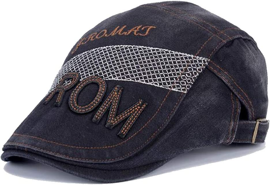 Hat Casual Beret Three-Dimensional Embroidery Driving Cap Men's and Women's New Cap Accessories (Color : 03, Size : 55-60cm)