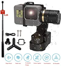 FeiyuTech Feiyu WG2X Waterproof Wearable Gimbal Stabilizer with Extension Pole & Mini Tripod,Action Camera Gimbal Compatible with GoPro Hero 7/6 / 5/4 / Session Any Similar Size Camera