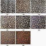 Hongma Lederstoff Leopard Muster PU Leder A4 Größe 11.4 x