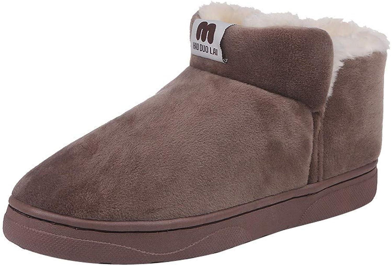 A-LING Women's Short Tube Plus Velvet Cotton shoes Student Bare Snow Boots