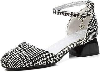 BalaMasa Womens ASL06547 Pu Block Heels