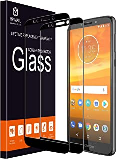 MP-MALL 2-PACK Motorola Moto E5 Plus Full Cover Case Friendly Tempered Glass Screen Protector