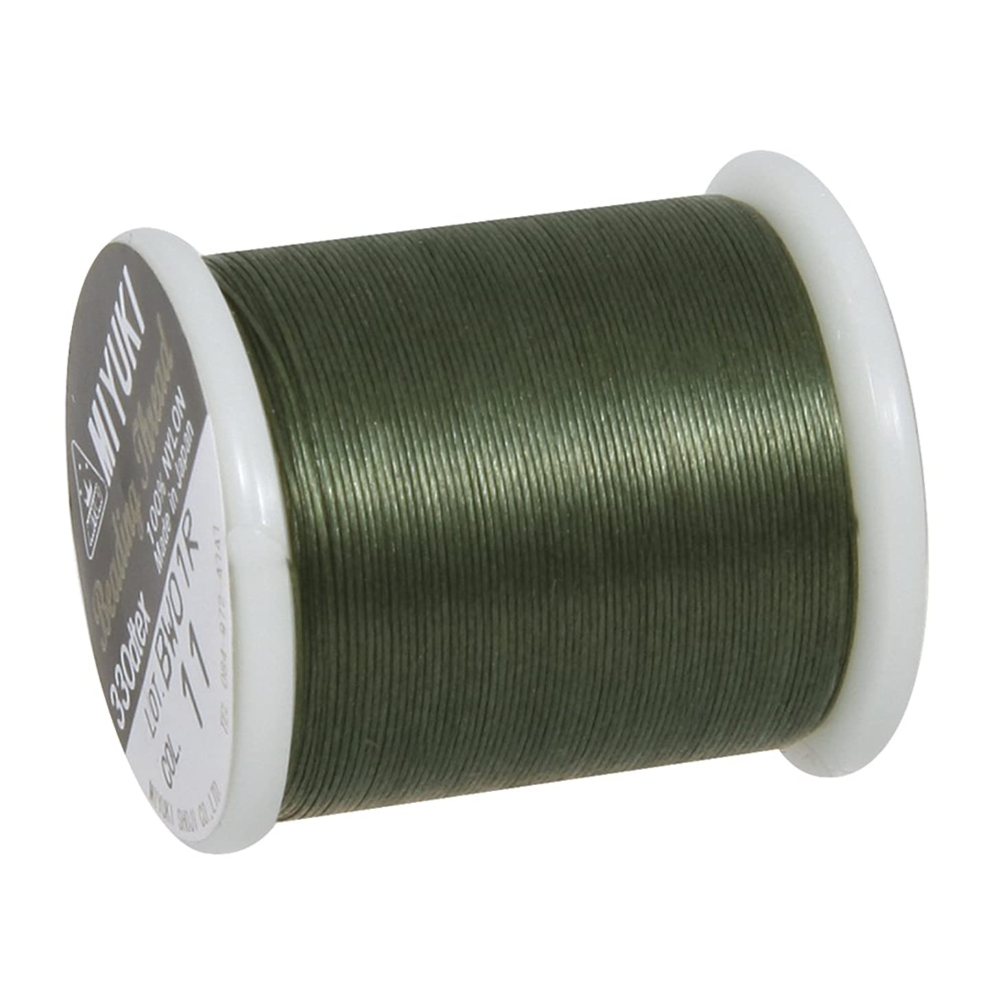 RAYHER 89300456?Threading Thread for Delica Seed Beads 0.27?mm Diameter?–?Bag of 50?m, Olive