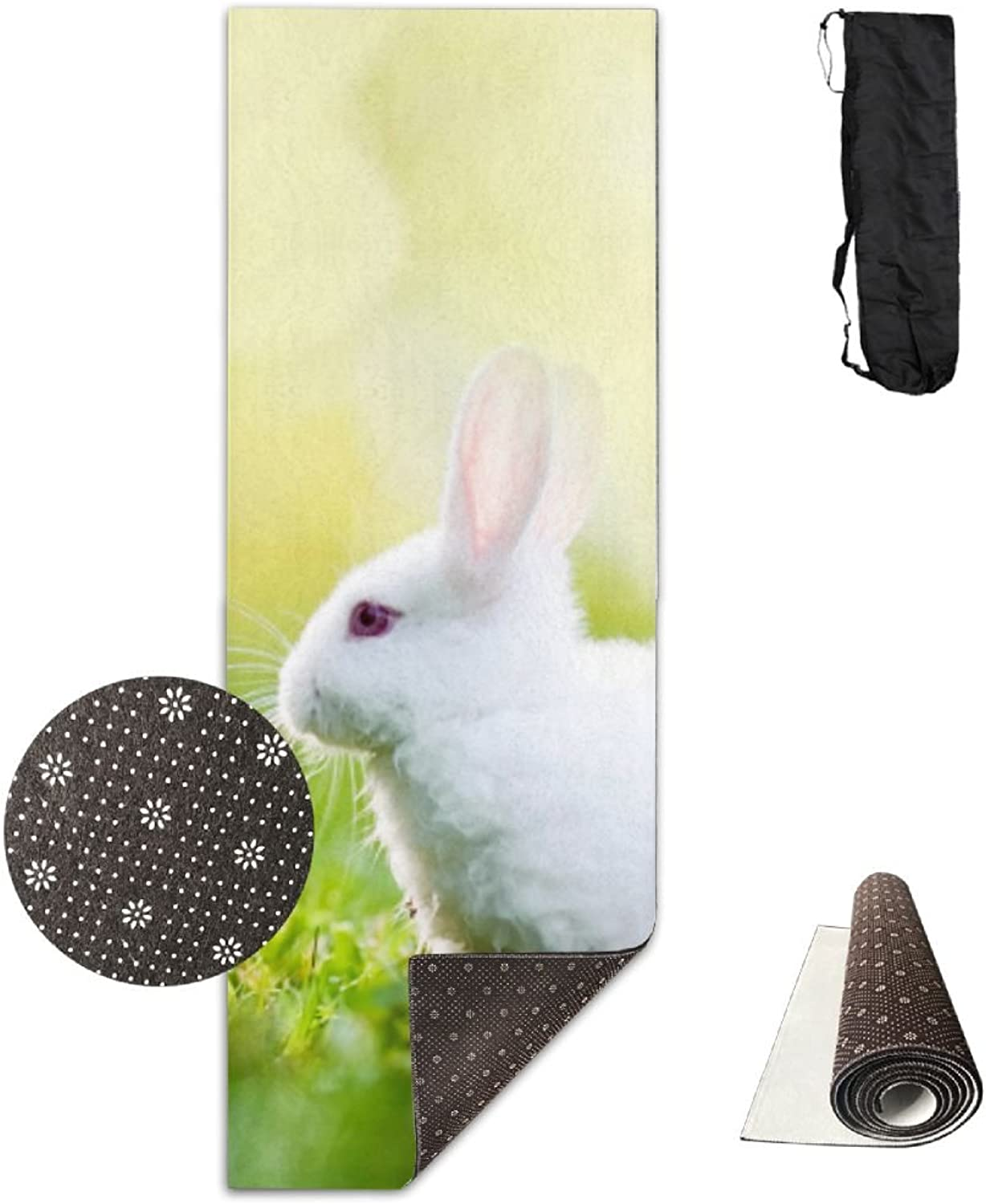 Gym Mat Grass Rabbit Fitness High Density AntiTear Exercise Yoga Mat With Carrying Bag For Exercise,Pilates