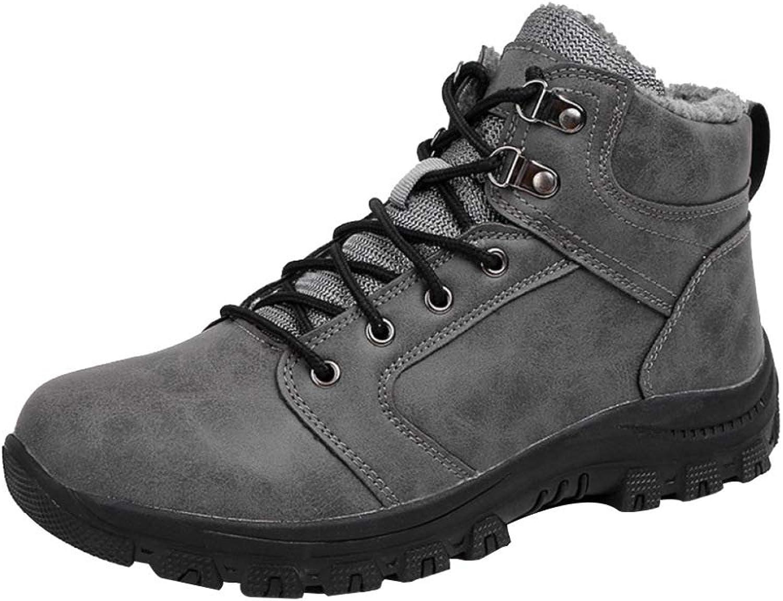 Winter-Mann-Schuh-Warmer Im Freien Wasserdichte Pelz Gefütterte Knchel-beilufige Schneeschuhe Arbeits-Gebrauchs-Schuhe Der Mnner