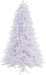 Vickerman 65' Crystal White Pine Artificial Christmas Tree with 550 Multi-colored LED lights