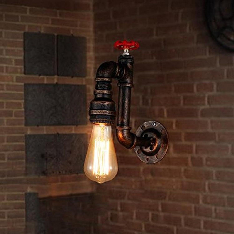 LED Wandleuchten Retro, Retro, Wasser Wandlampen zum Dekorieren Wohnzimmer Gang Treppen Bar Internet Cafe Korridor Leuchten DE