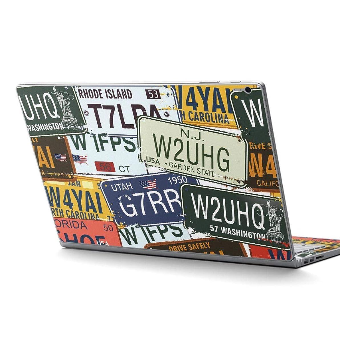 冷蔵する新年含むigsticker Surface Book / Book2 / Book3 13.5inch ブック2 専用 スキンシール サーフェス ブック2 カバー ケース フィルム ステッカー アクセサリー 保護 000171 ユニーク プレート 英字 看板