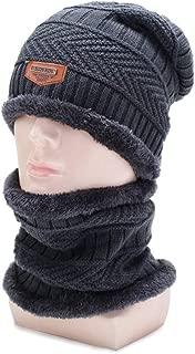 ZiWen Lu New Korean Men's Winter Knit hat and Velvet Jacket Wild Casual Cap Thick Warm Neck Guard Wool Cap (Color : Grey, Size : Adjustable)