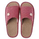 QXbecky Zapatillas de Lino a Rayas Four Seasons, Zapatillas Antideslizantes de Fondo Suave para Interiores, para el hogar, para Hombres y Mujeres, para el hogar, Zapatillas de Lavabo
